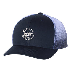 Quality Blues Printed Mesh-Back Trucker Hat - Navy Fade