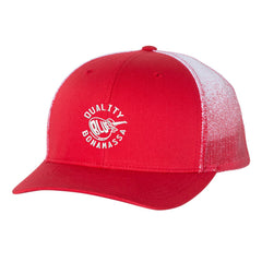 Quality Blues Printed Mesh-Back Trucker Hat - Red Fade