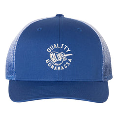 Quality Blues Printed Mesh-Back Trucker Hat - Royal Fade