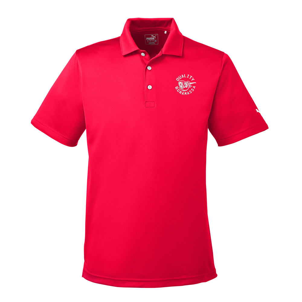 Quality Blues Puma Golf Icon Polo (Men) - Red