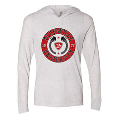 Bluesville University Crest Long Sleeve & Hoodie (Unisex) - Heather White