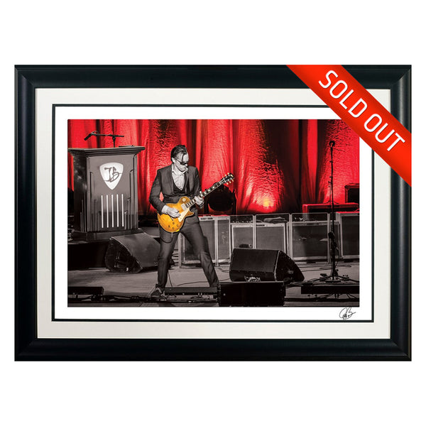 "#29 ""Red House "" JOE BONAMASSA Collectible Litho (FRAMED - USA ONLY)"