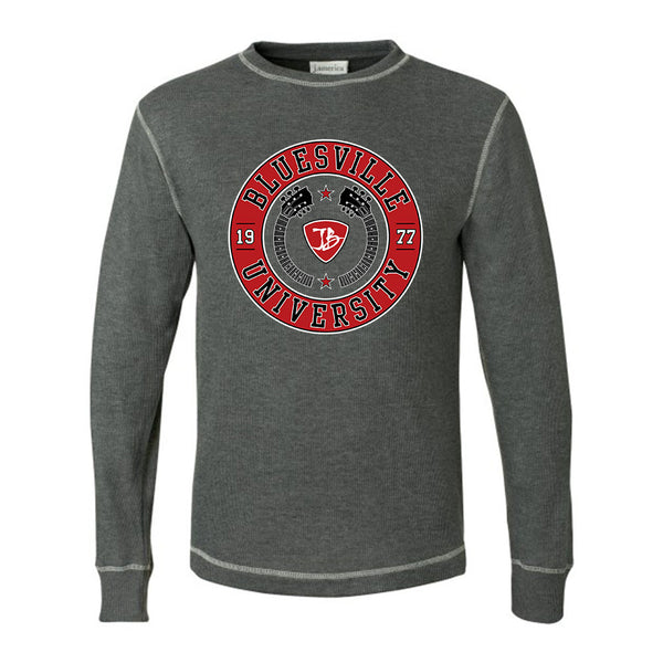 Bluesville University Crest Thermal (Unisex) - Charcoal