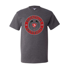 Bluesville University Crest Champion T-Shirt (Men) - Charcoal Heather