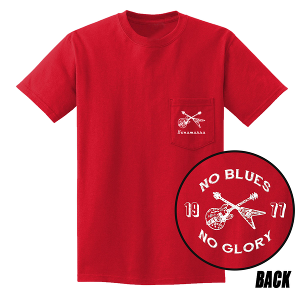 No Blues, No Glory Pocket T-Shirt (Unisex) - Red