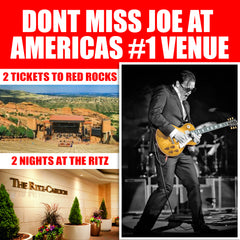Joe Bonamassa Live in Concert at Red Rocks - Ticket Package with 2 Night Stay at The Ritz Carlton