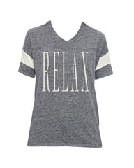 Relax - Powder Puff T-shirt (Grey & White)