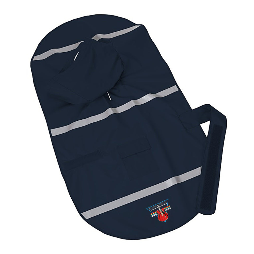 Blues Rock Triangle Doggie Rain Jacket - Navy