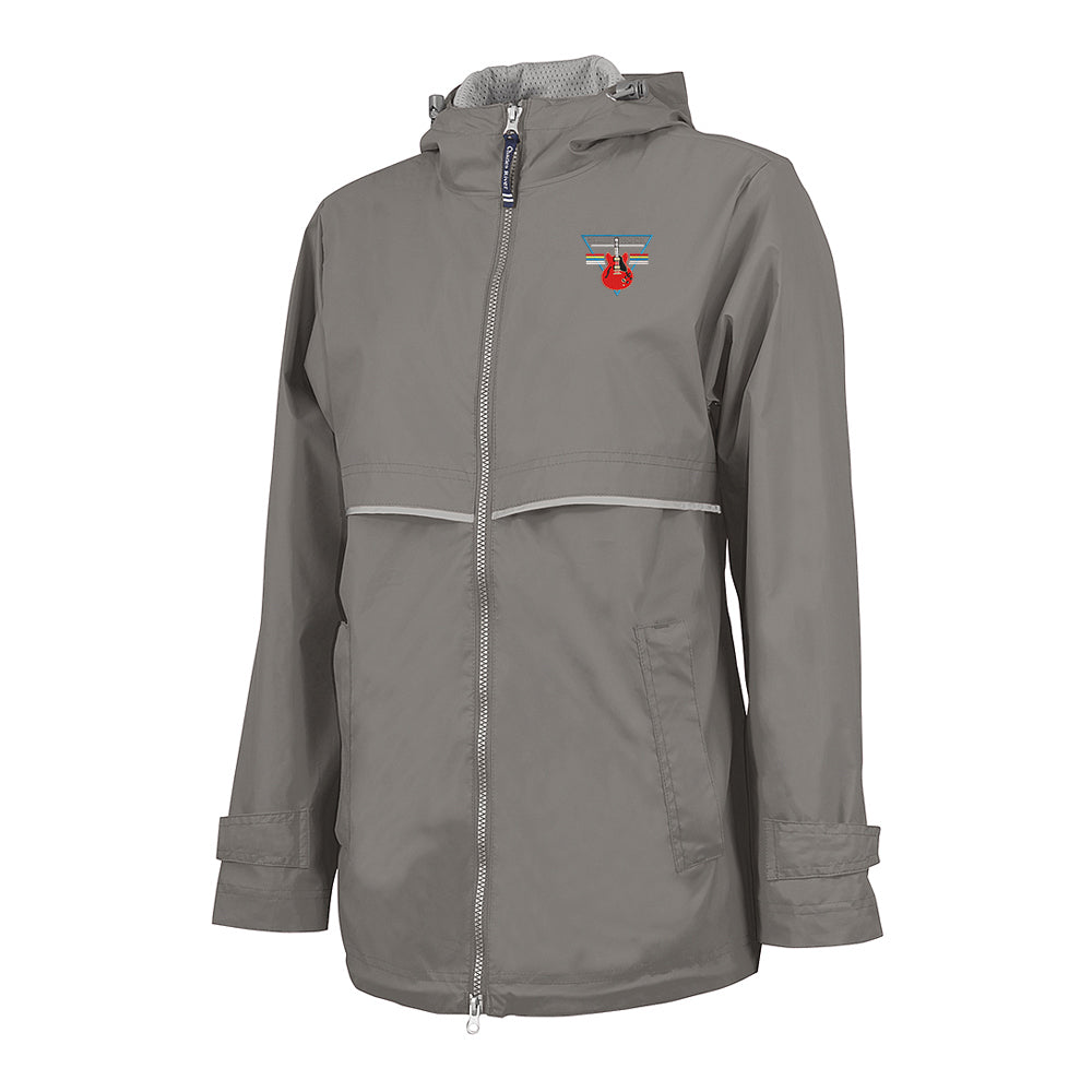 Blues Rock Triangle Rain Jacket (Women) - Grey