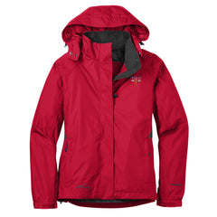 Blues Rock Triangle Eddie Bauer Rain Jacket (Women) - Red