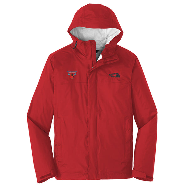 Blues Rock Triangle The North Face Rain Jacket (Men) - Red