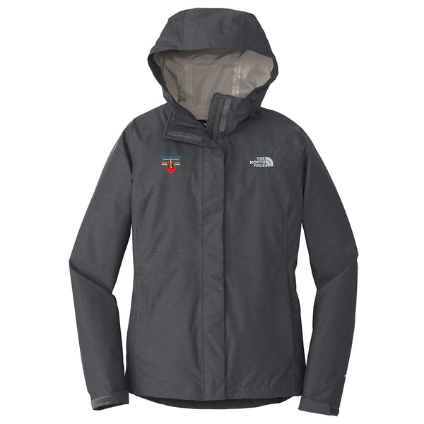 Blues Rock Triangle The North Face Rain Jacket (Women) - Grey