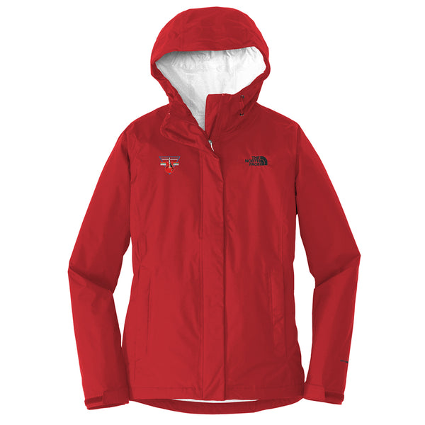 Blues Rock Triangle The North Face Rain Jacket (Women) - Red