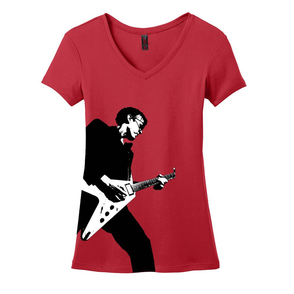 Joe Bonamassa Rockin' V-Neck (Women) - Red