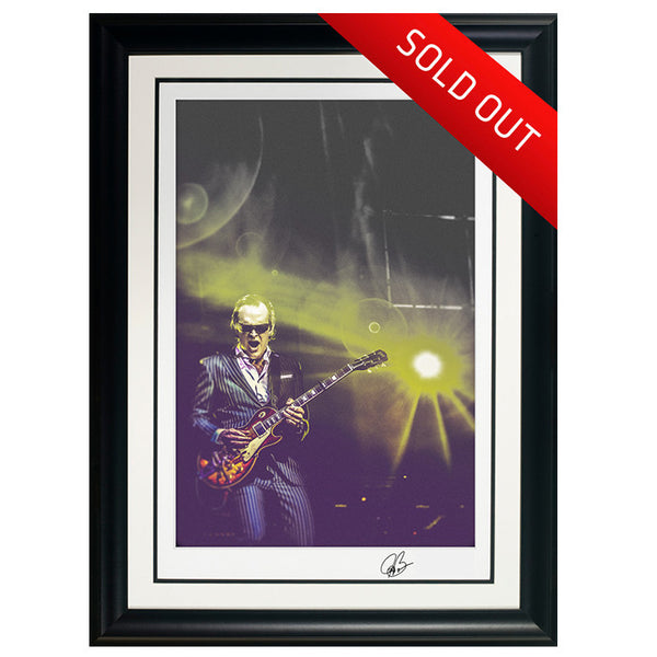 "#23 ""Royal Spotlight"" JOE BONAMASSA Collectible Litho (FRAMED - USA ONLY)"