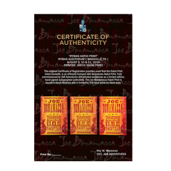 Ryman 2018 Performance Hatch Print - Set of 3 - Hand-Signed