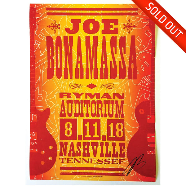 Ryman 2018 Performance Hatch Print - August 11th - Hand-Signed