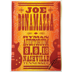 Ryman 2018 Performance Hatch Print - August 9th - Hand-Signed