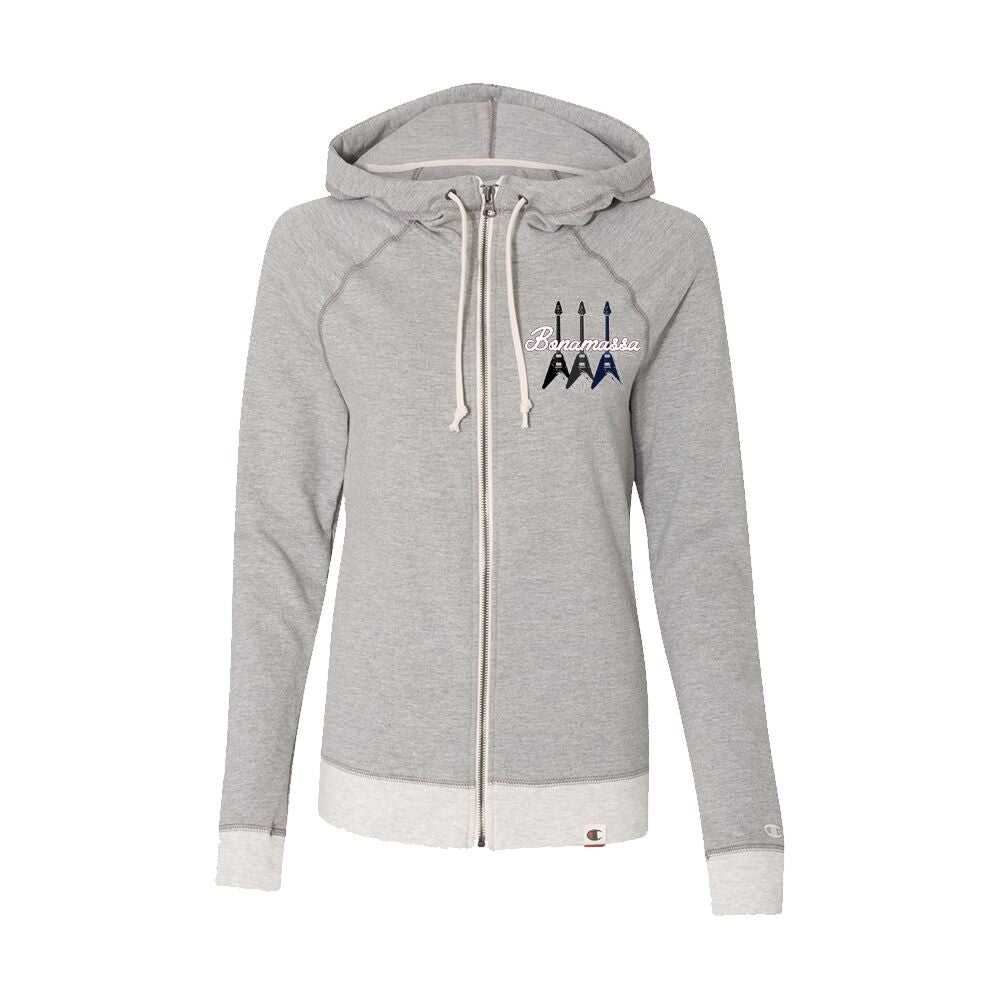 Triple Flying V - Champion Women's Zip-Up Hoodie (Oxford Grey)