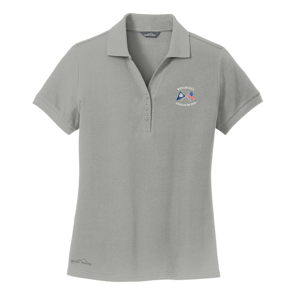 Sailin' Blues Eddie Bauer Pique Polo (Women) - Chrome