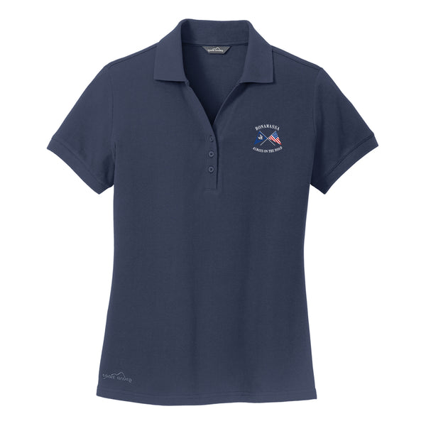 Sailin' Blues Eddie Bauer Pique Polo (Women) - Navy