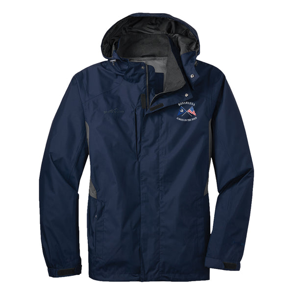Sailin' Blues Eddie Bauer Rain Jacket (Men) - Navy