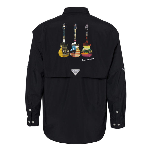 Blues Scene Columbia PFG Bahama II Long Sleeve (Men) - Black