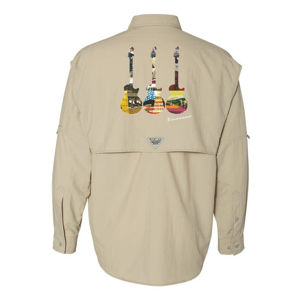 Blues Scene Columbia PFG Bahama II Long Sleeve (Men) - Fossil