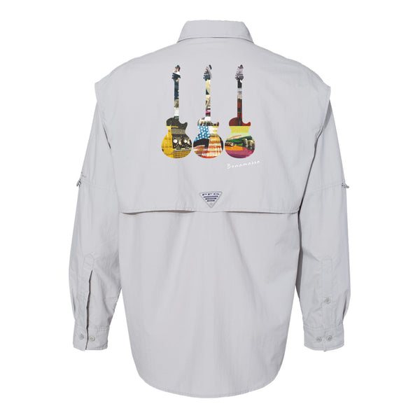 Blues Scene Columbia PFG Bahama II Long Sleeve (Men) - Grey