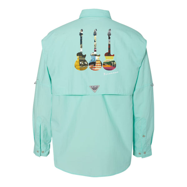 Blues Scene Columbia PFG Bahama II Long Sleeve (Men) - Gulf Stream
