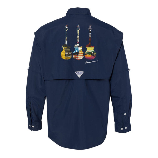 Blues Scene Columbia PFG Bahama II Long Sleeve (Men) - Navy