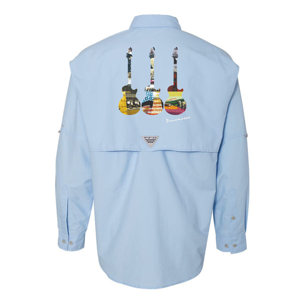 Blues Scene Columbia PFG Bahama II Long Sleeve (Men) - Sail