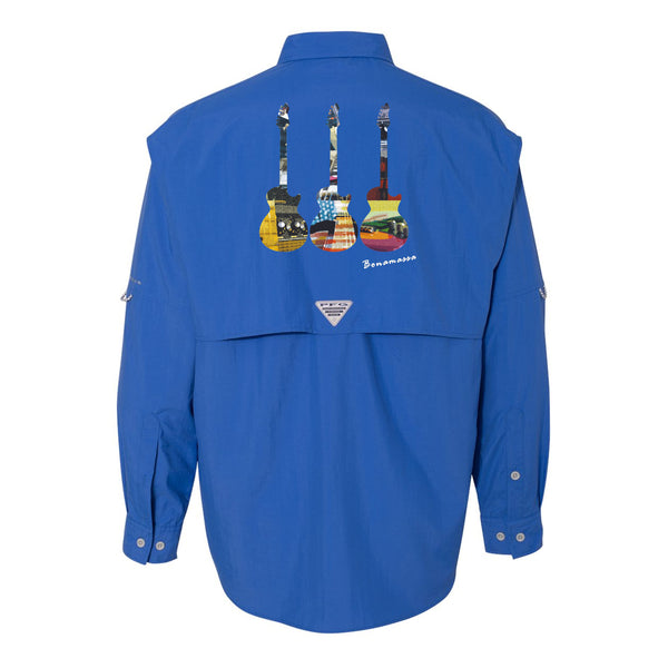 Blues Scene Columbia PFG Bahama II Long Sleeve (Men) - Vivid Blue