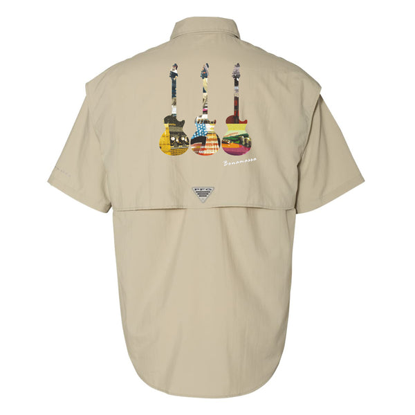 Blues Scene Columbia PFG Bahama II Short Sleeve (Men) - Fossil