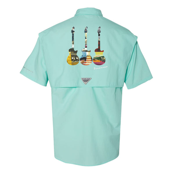 Blues Scene Columbia PFG Bahama II Short Sleeve (Men) - Gulf Stream