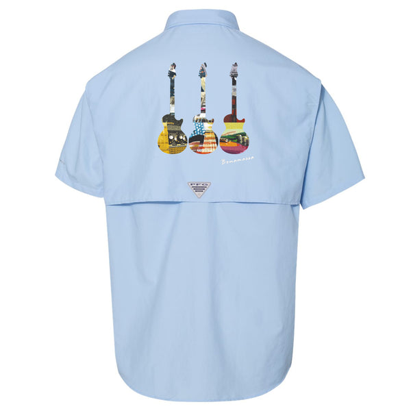 Blues Scene Columbia PFG Bahama II Short Sleeve (Men) - Sail