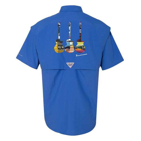 Blues Scene Columbia PFG Bahama II Short Sleeve (Men) - Vivid Blue