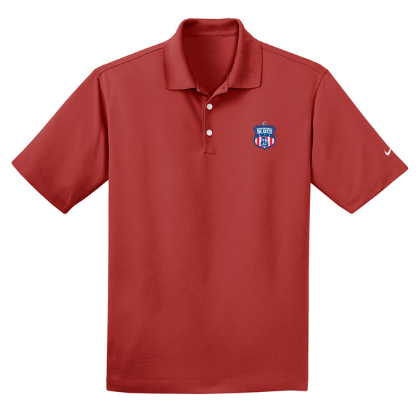 Bonamassa Blues Nike Dri-FIT Micro Pique Polo (Men) - Varsity Red