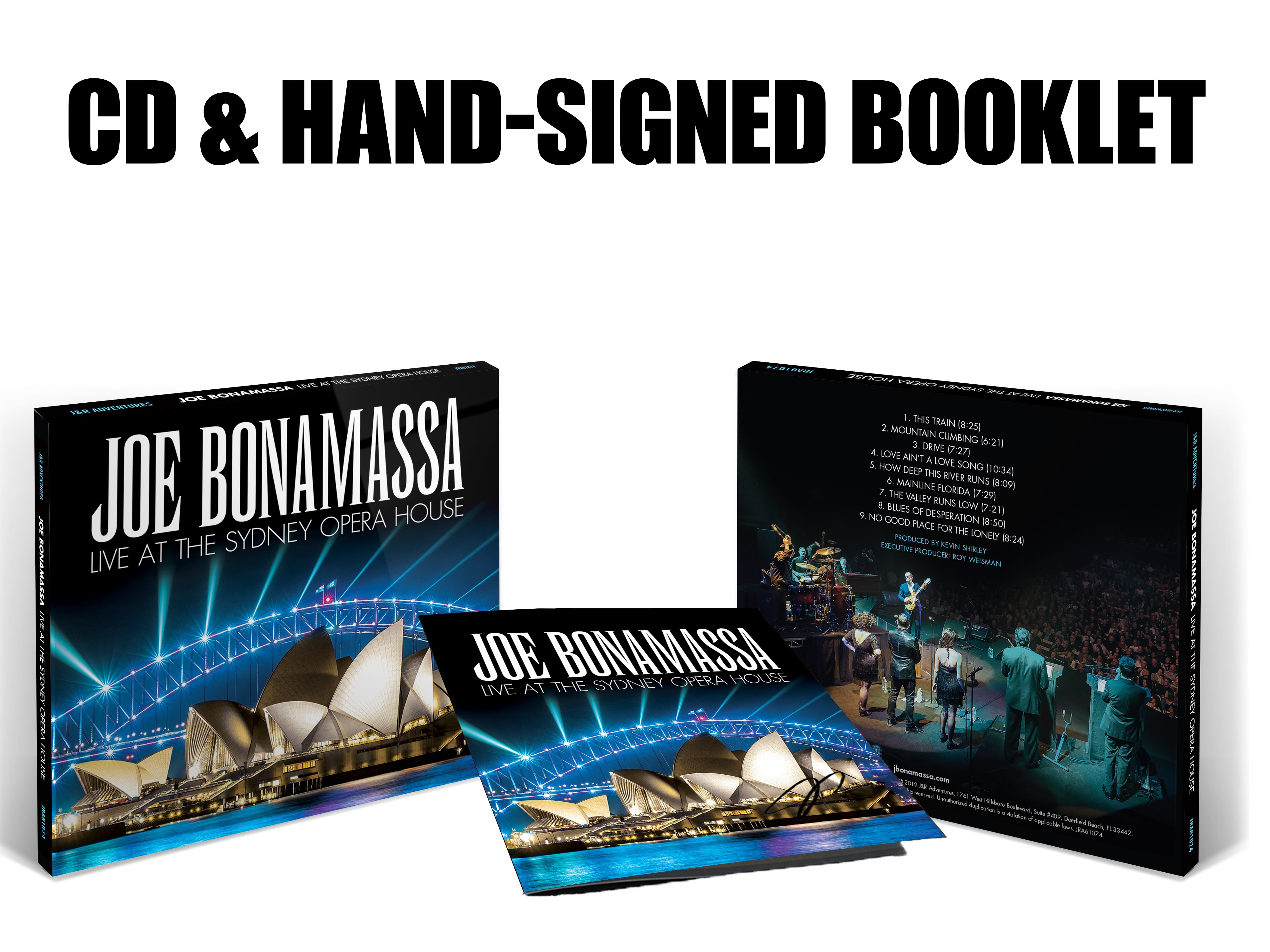 Joe Bonamassa: Live at the Sydney Opera House (CD) (Released: 2019) - Hand-Signed