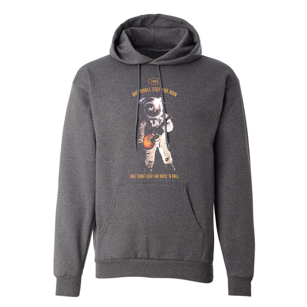 One Giant Leap for Rock n Roll  Champion Hooded Sweatshirt (Unisex) - Charcoal