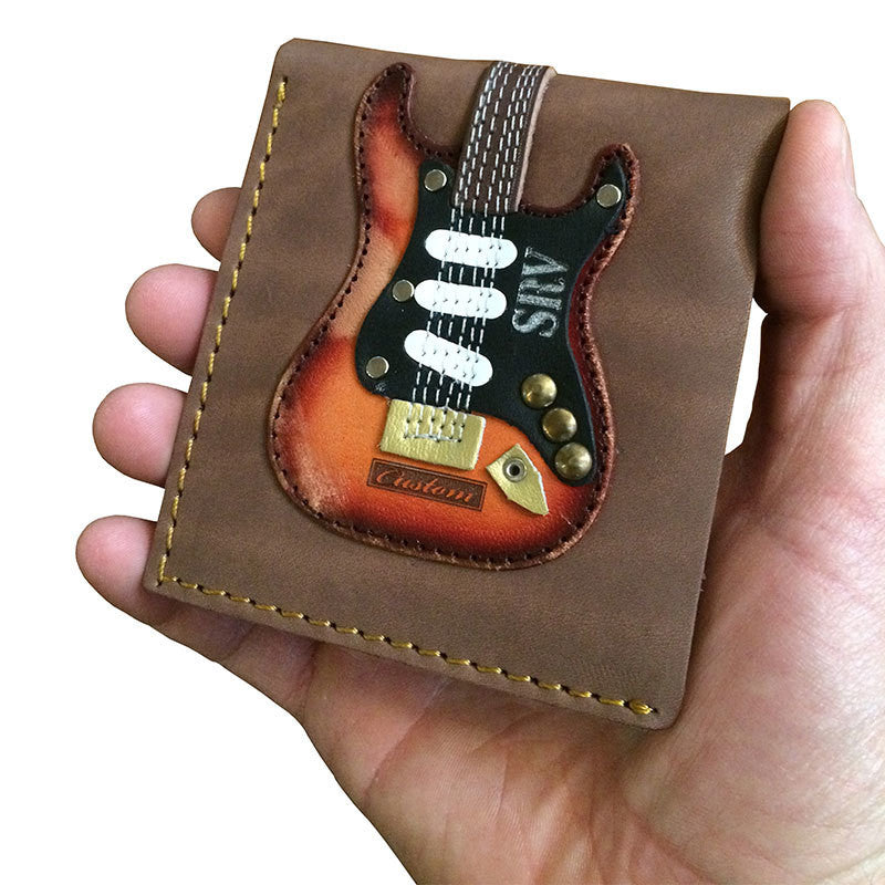 Stevie Ray Vaughan Handmade Genuine Leather Guitar Wallet