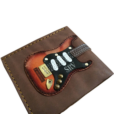 Stevie Ray Vaughn Handmade Genuine Leather Guitar Wallet