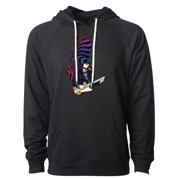 Trippy Headstock Lightweight Terry Pullover (Unisex) - Black