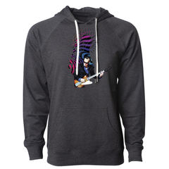 Trippy Headstock Lightweight Terry Pullover (Unisex) - Charcoal Heather