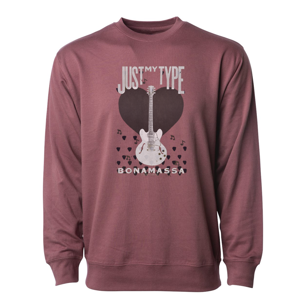 Just My Type Lightweight Crew Neck Long Sleeve (Unisex) - Port