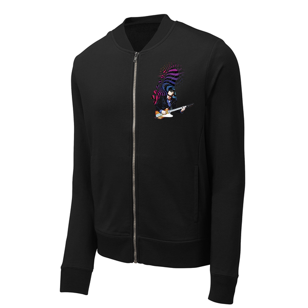 Trippy Headstock Lightweight Bomber (Men) - Black