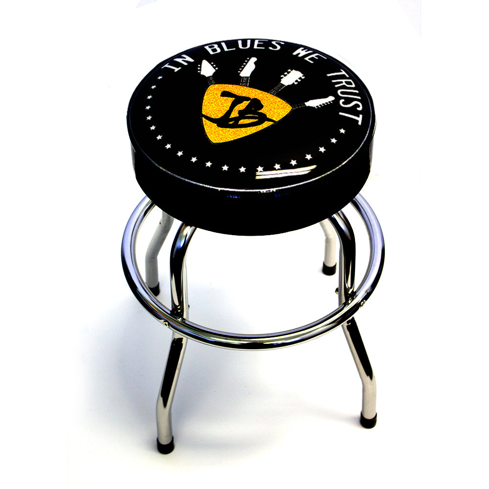 "In Blues We Trust 24"" Guitar Stool"