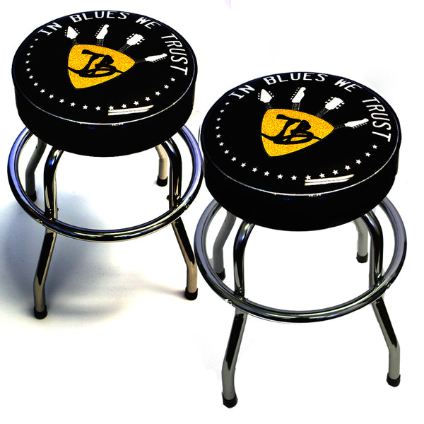 "In Blues We Trust 24"" Guitar Stool - Set of 2"