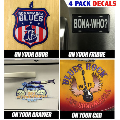 4 Pack Collectible Bona-Decals