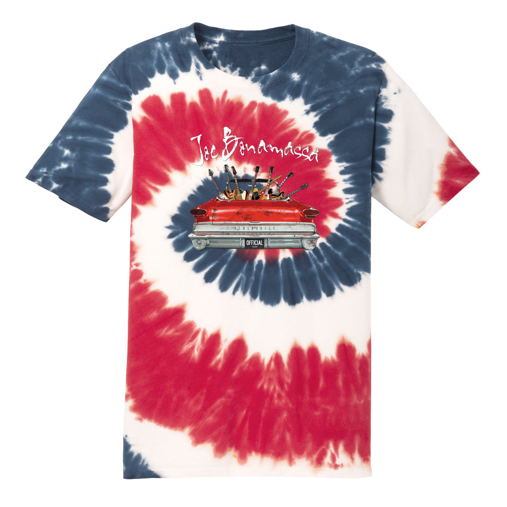 Street Team Pit Crew Tie Dye T-Shirt (Unisex) - Red/White/Blue